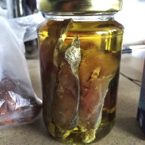 Homemade pickled mackerel